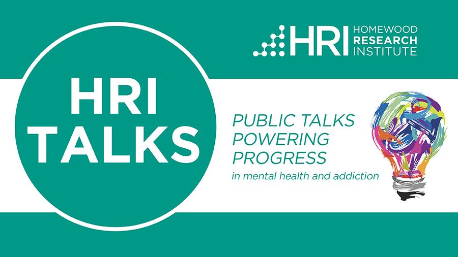 HRI Talks logo with a colourful lightbulb
